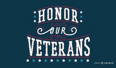 Banner de citação do dia dos veteranos