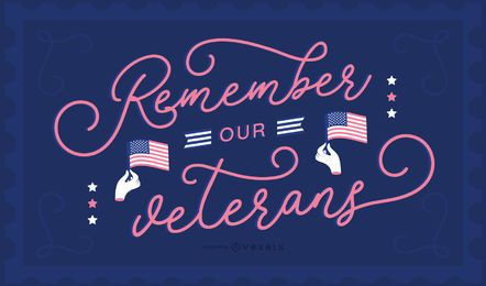 Veterans Day Lettering Background