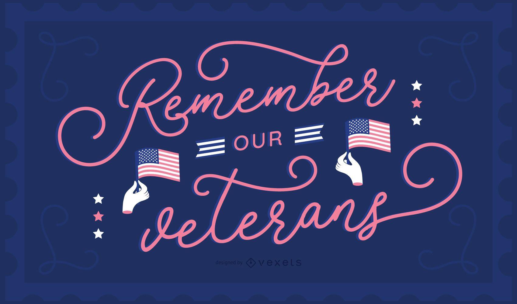 Fondo de letras del día de los veteranos
