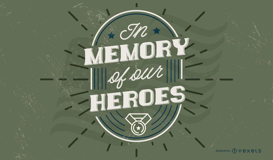Design de citação do dia dos veteranos