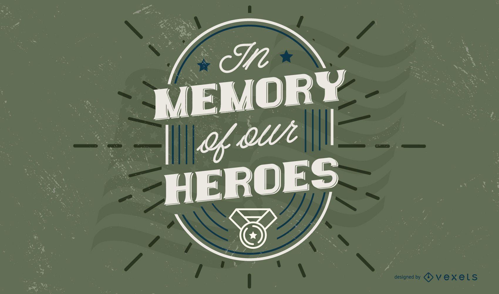 Design de citações do dia dos veteranos