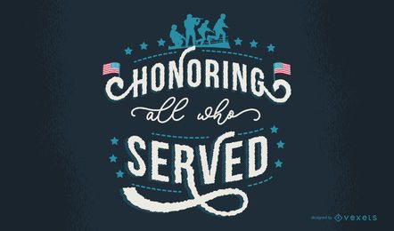 Veterans Day Lettering Design Wallpaper