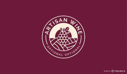 Modelo de logotipo de negócios de vinho