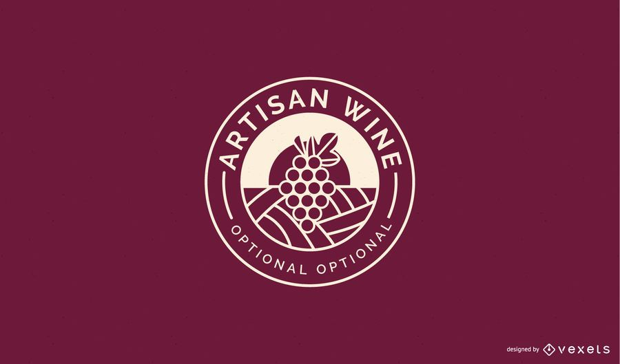 Wine business logo template