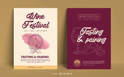 Wine business poster template