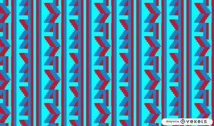 Diseño de patrón tribal brillante
