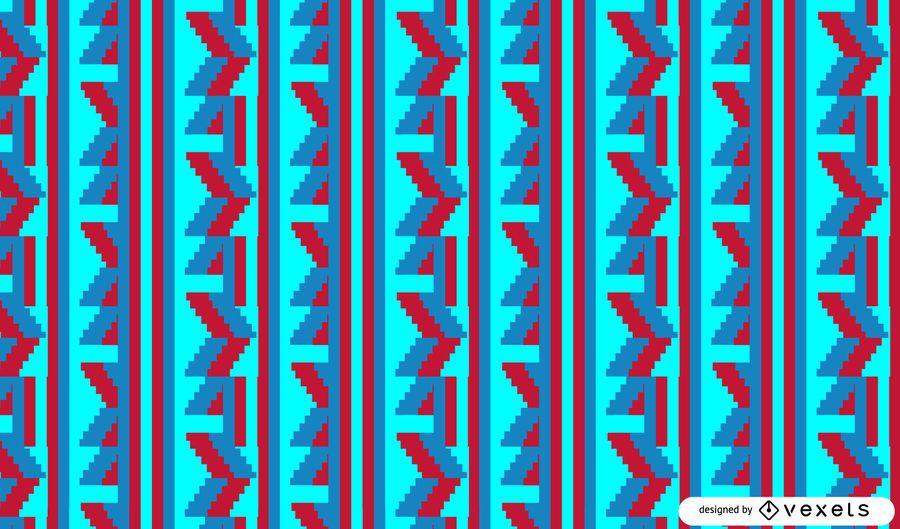 Bright tribal pattern design