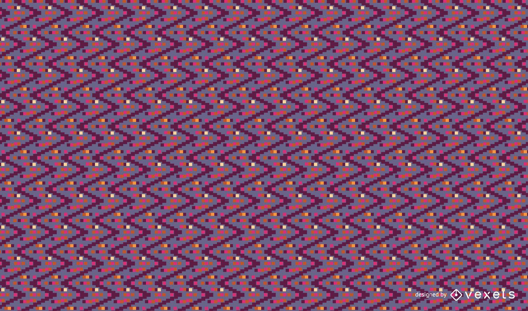 Colorful zig zag pattern design