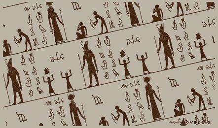 Desenho padrão egípcio