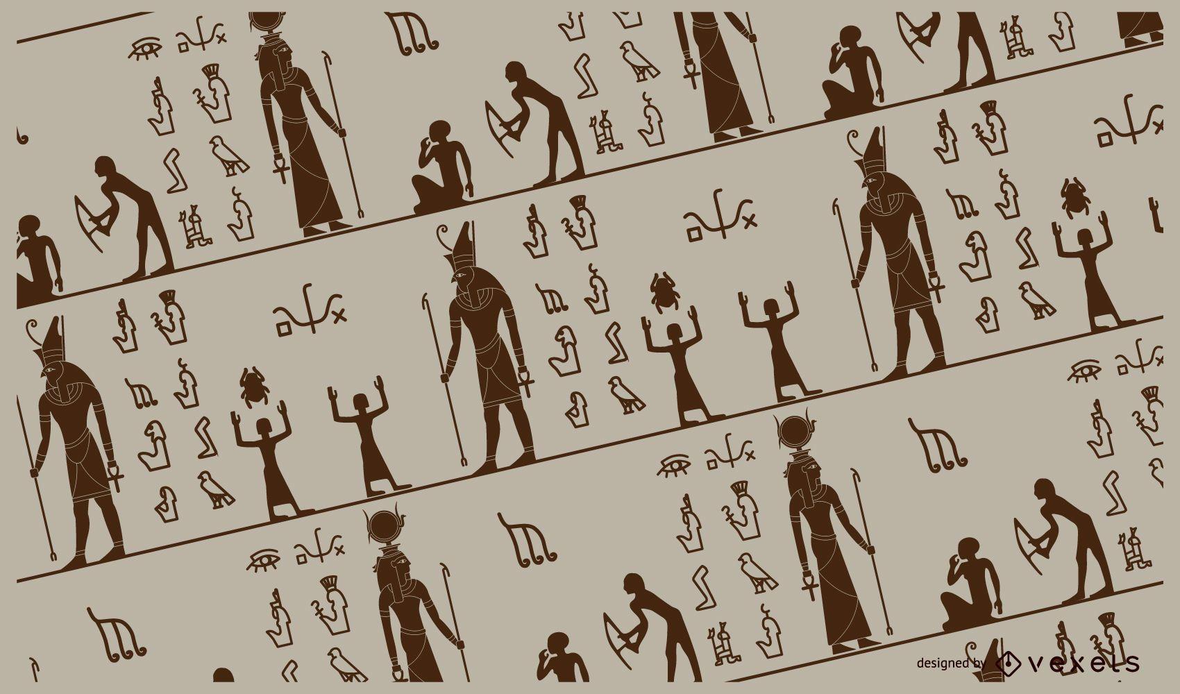 Diseño de patrón de Egipto