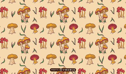 Mushrooms pattern design