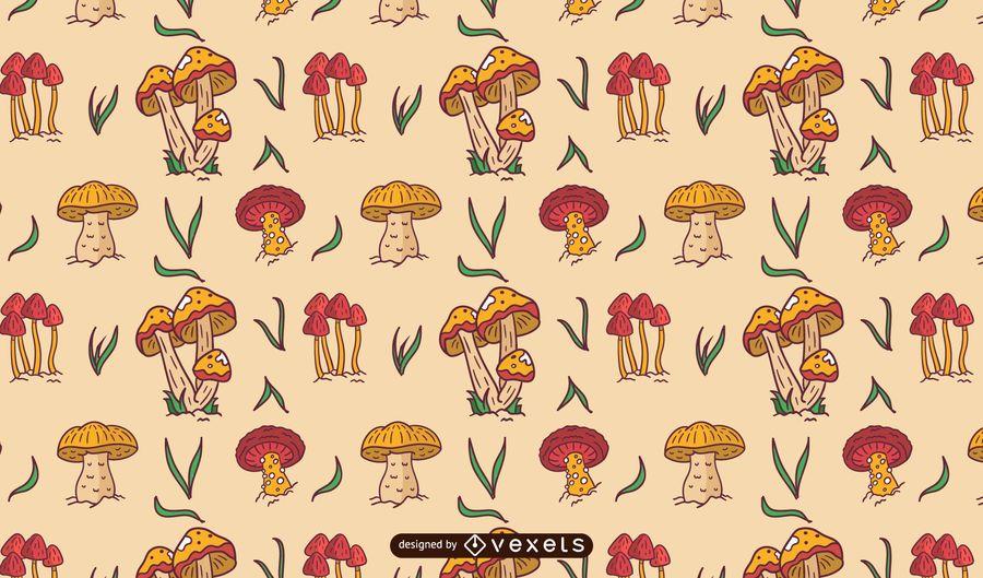 Mushrooms pattern design