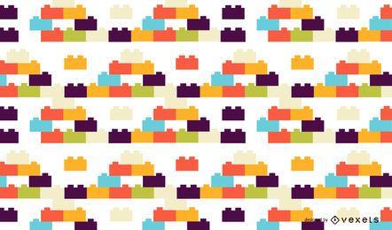 Diseño de patrón de juguetes de ladrillo colorido
