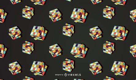 Diseño de patrón de cubos de juguetes