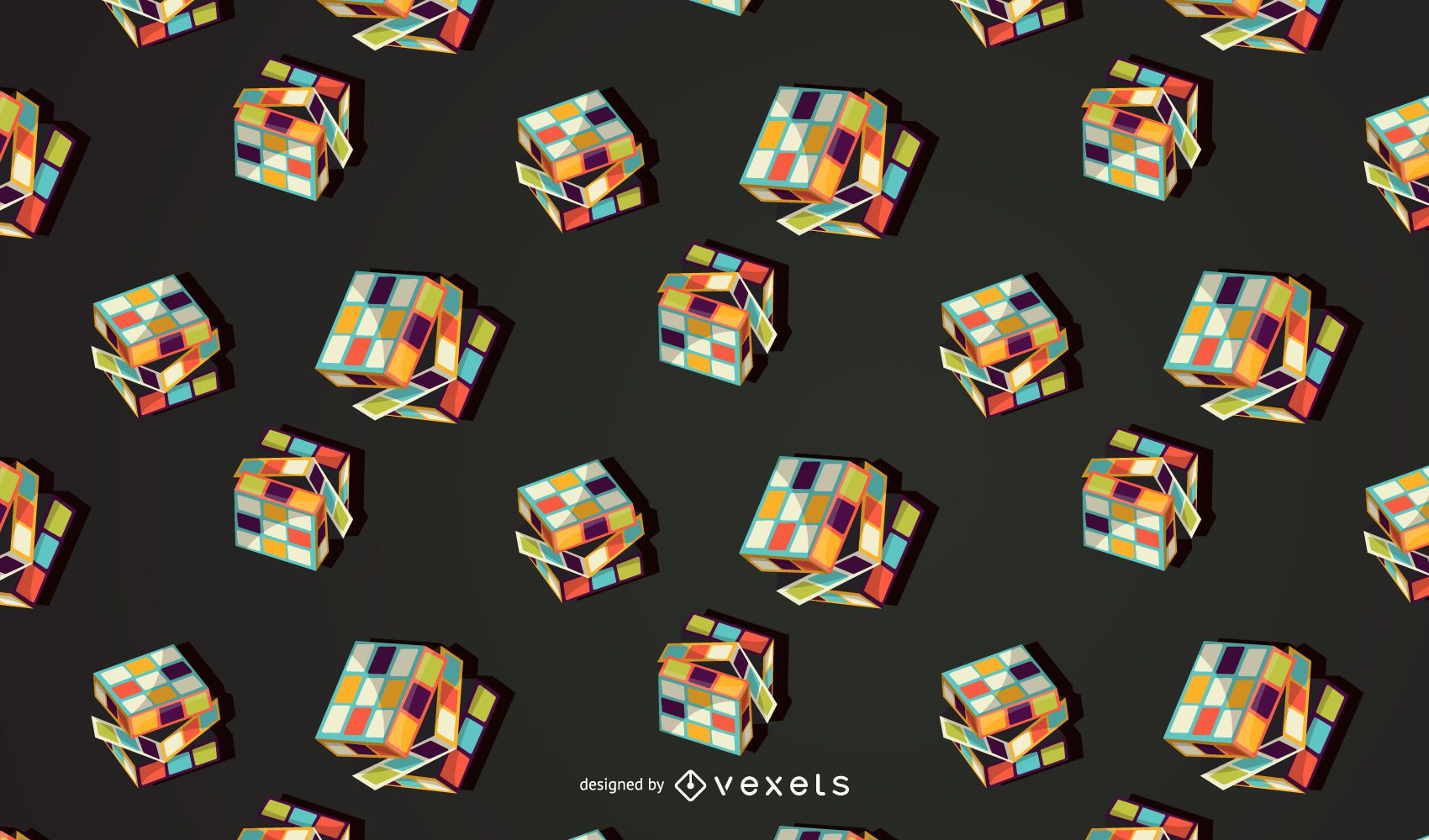 Toys cubes pattern design