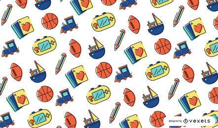Diseño de patrón de juguetes de trazo