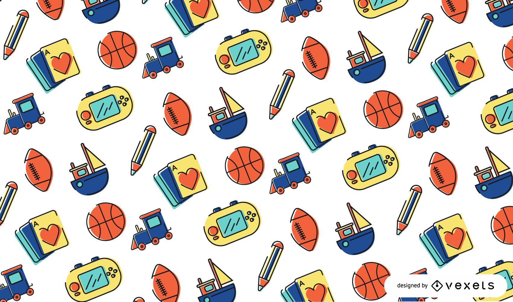 Stroke toys pattern design