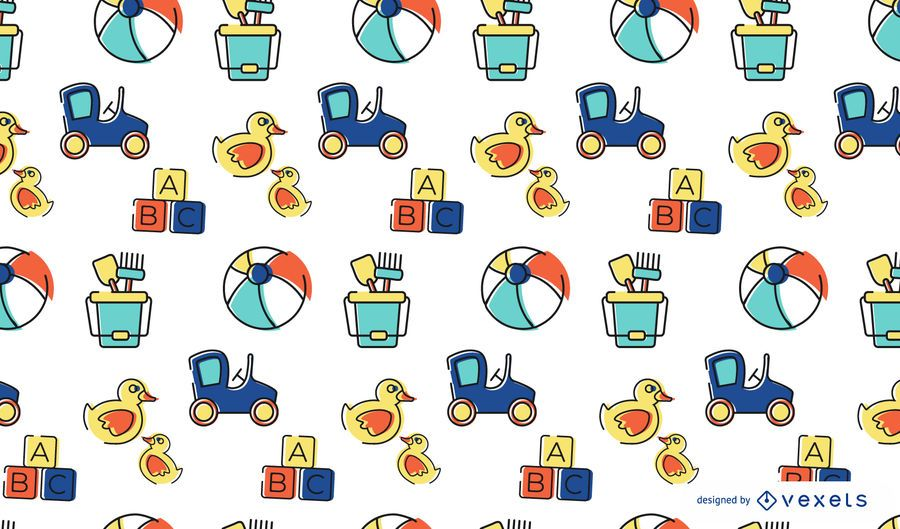 Colorful stroke toys pattern design