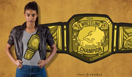Wrestling Belt T-Shirt Design