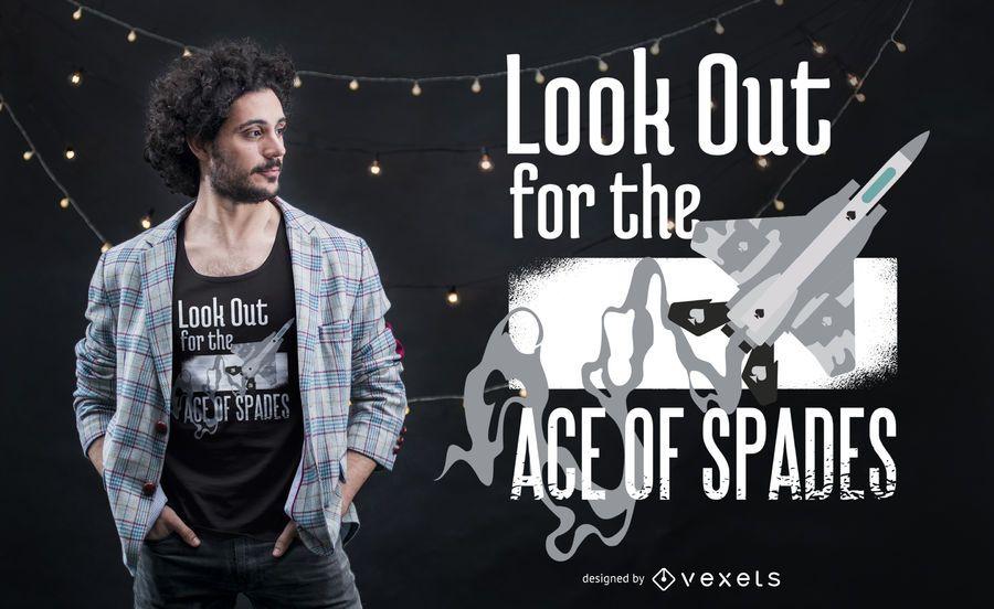 Ace of Spades Aviator Zitat T-Shirt Design