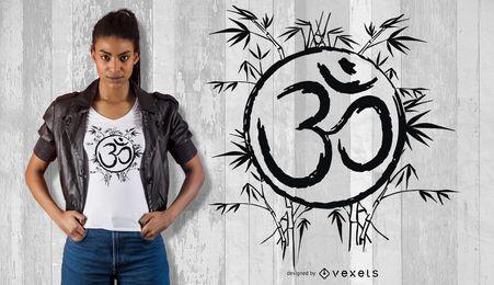 Design do t-shirt do símbolo do OM da natureza