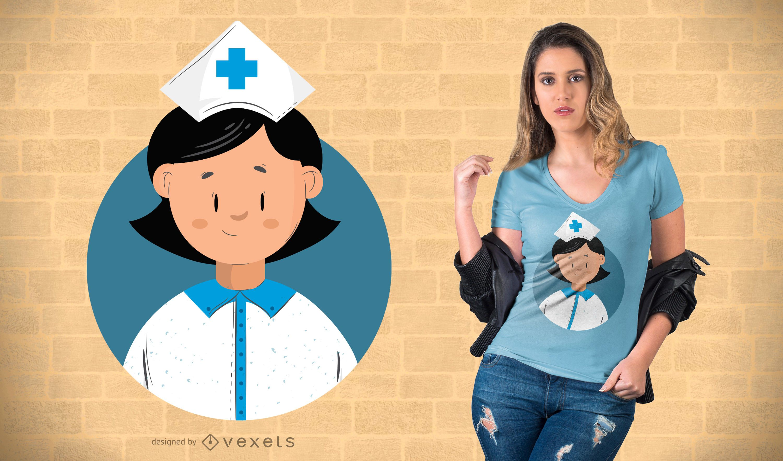 Flat Design Nurse T-shirt Design