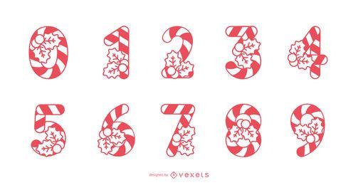 Conjunto de números de cana-de-doces