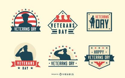 Veterans day badges