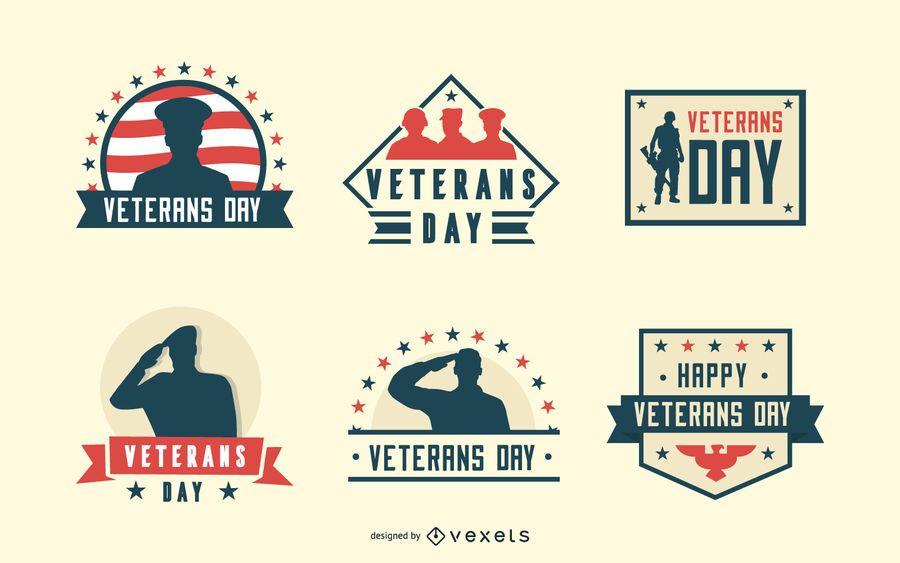 Emblemas do dia dos veteranos
