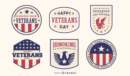 Veterans day badge pack
