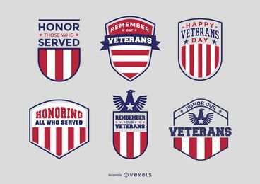 Veterans badge pack