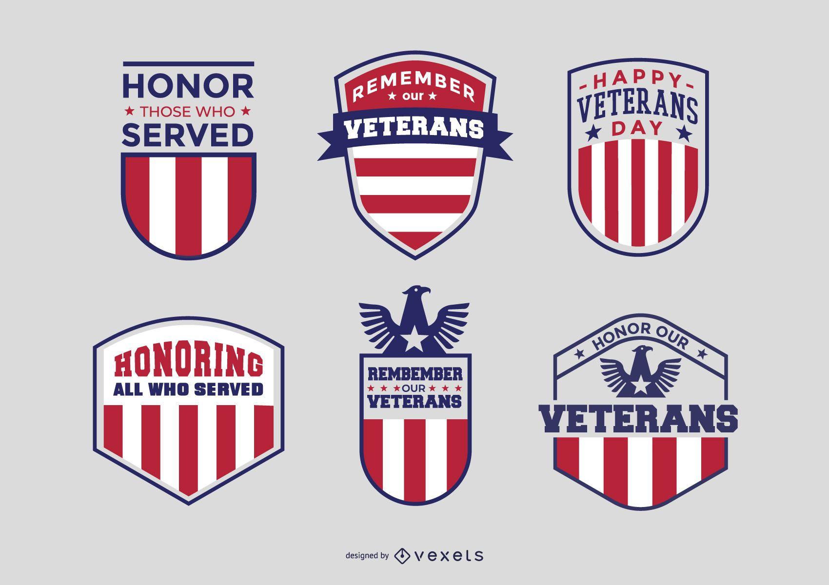 Paquete de insignias de veteranos