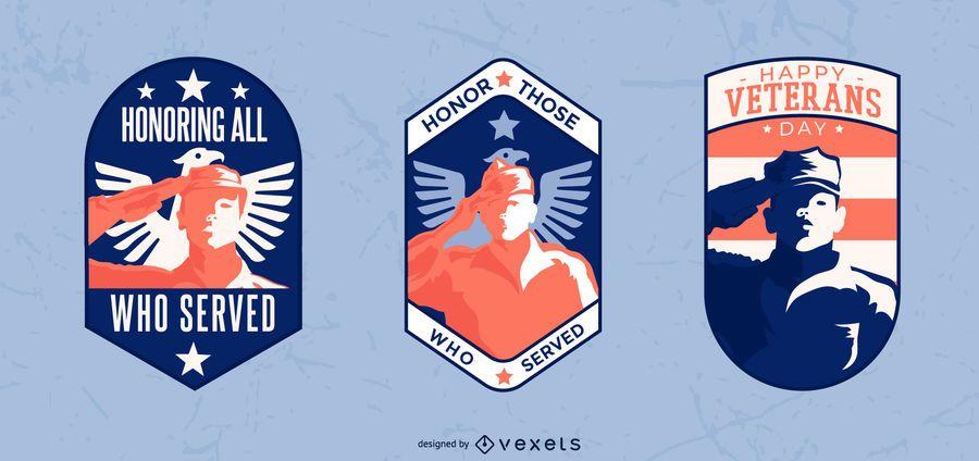 Veterans badge set