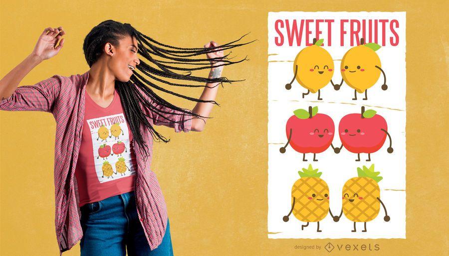Design de t-shirt de frutas doces