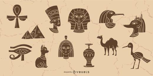 Coleção de elementos do Egito