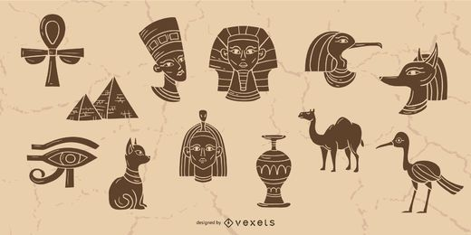 Colección de elementos de Egipto