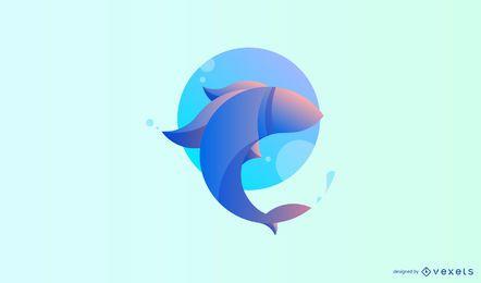 Modelo de logotipo de peixe moderno