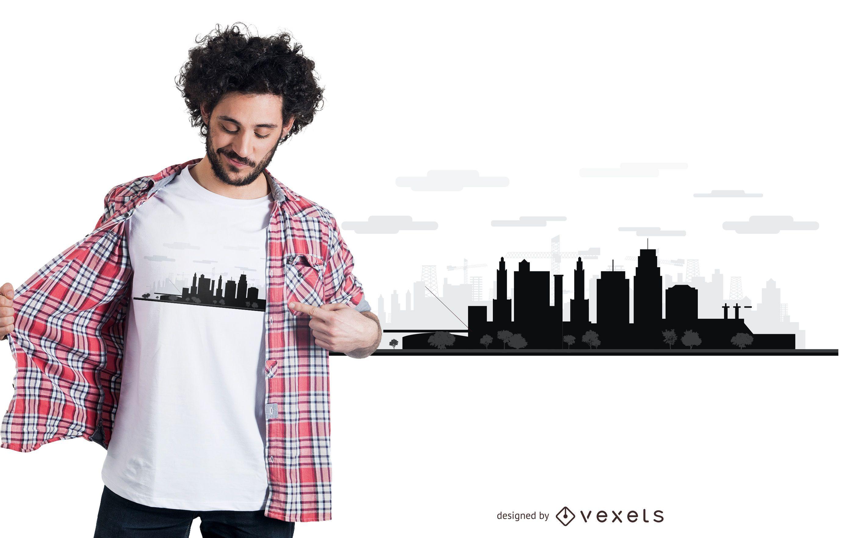 Kansas skyline t-shirt design