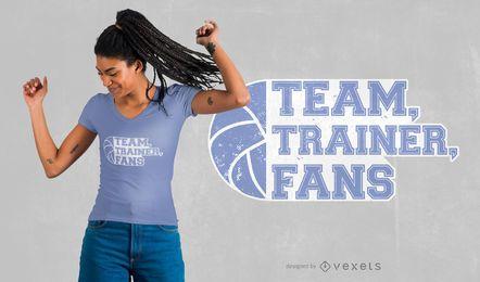 Design de camiseta do time de handebol