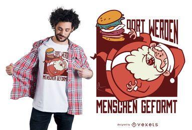 Diseño de camiseta alemana de Santa Burger
