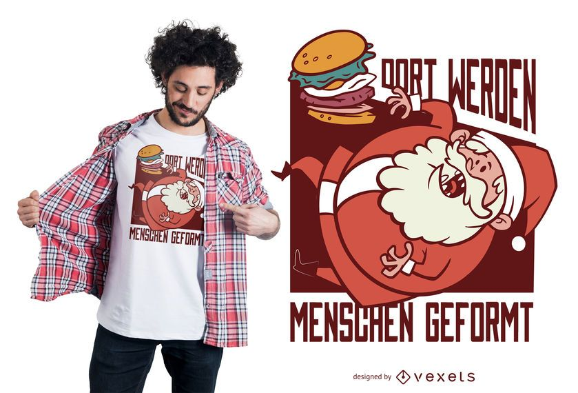 Santa Burger German T-shirt Design