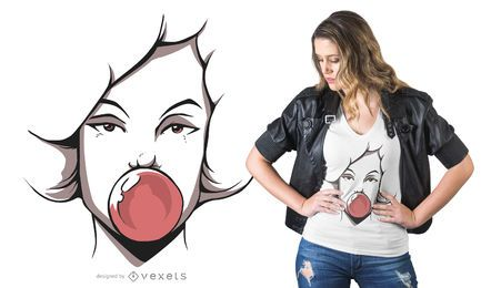 Design de t-shirt Bubblegum gitl