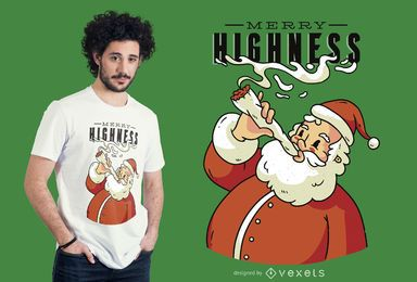 Diseño de camiseta Merry Highness