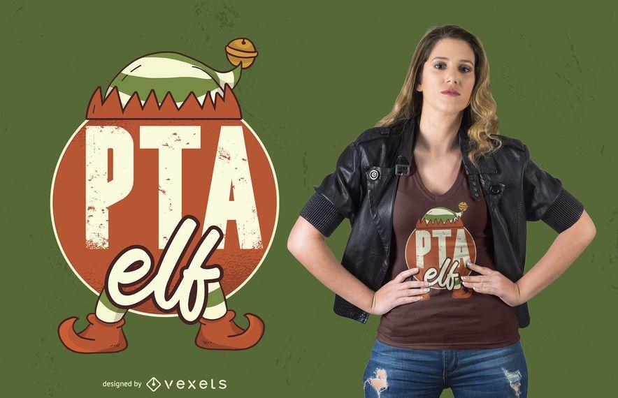 Design de t-shirt de elfo PTA