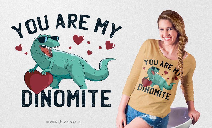 Design de t-shirt de dinomite