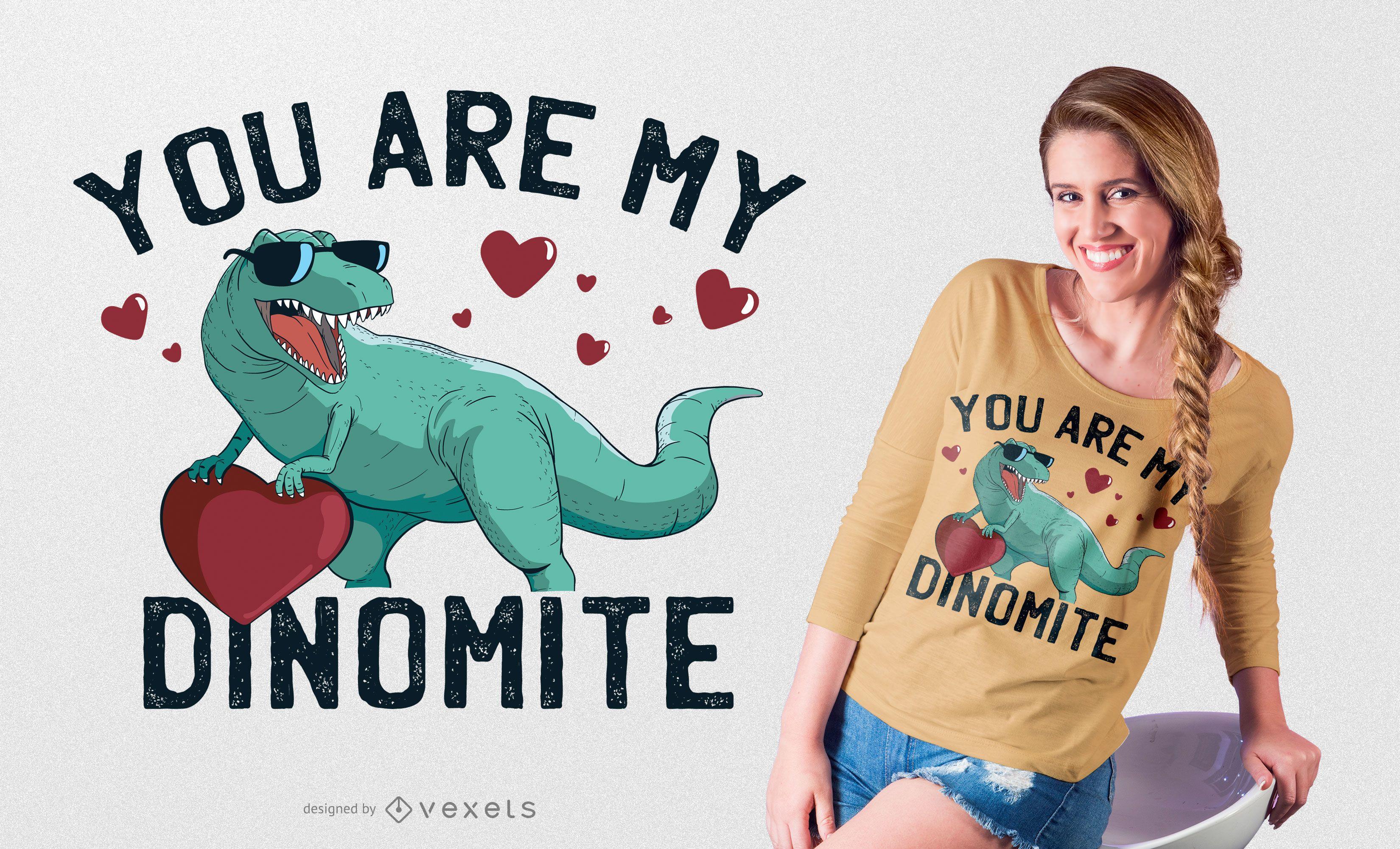 Design de camiseta Dinomite