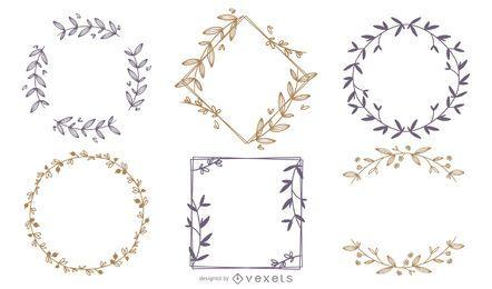 Conjunto de marcos de adorno