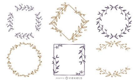 Conjunto de quadros de ornamento