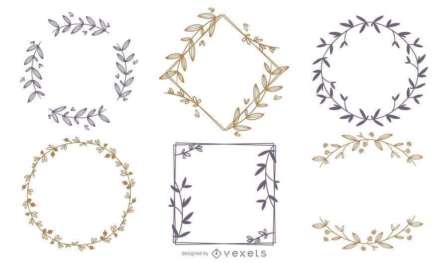 Ornament frames set
