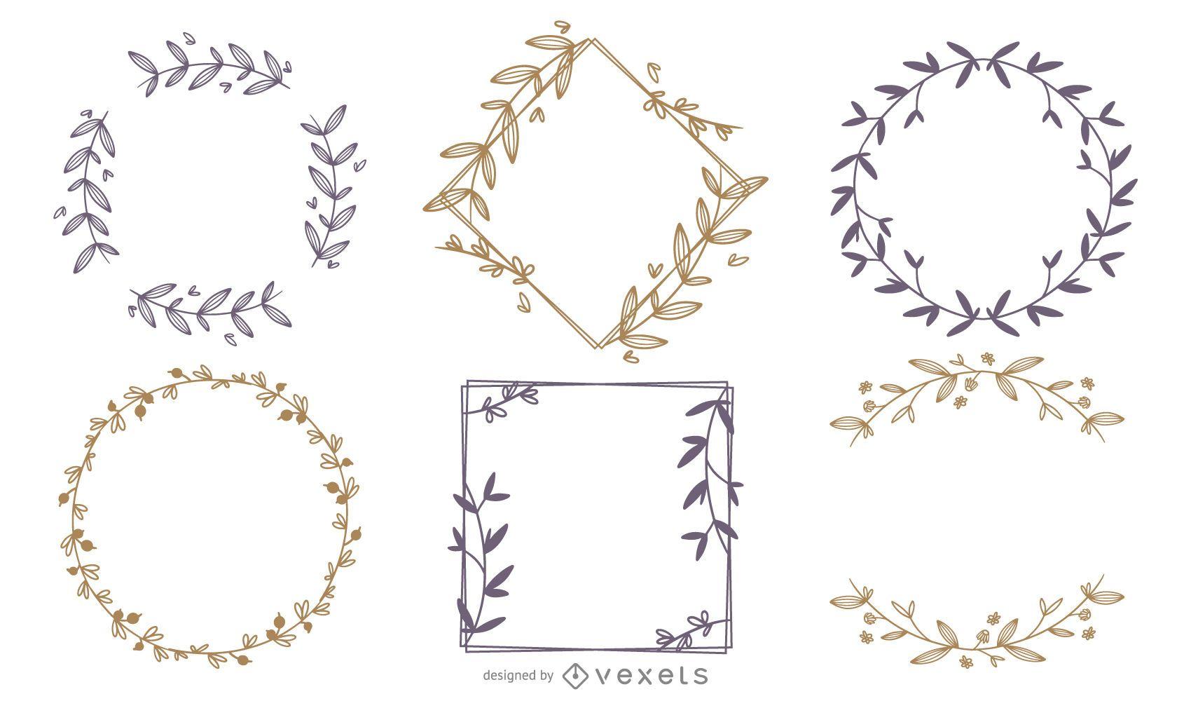 Conjunto de molduras de ornamento